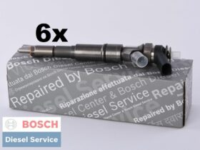 6 Remanufactured Fuel Injectors | Bosch | 0445110047 7785984 | BMW E39 530d X5 730d